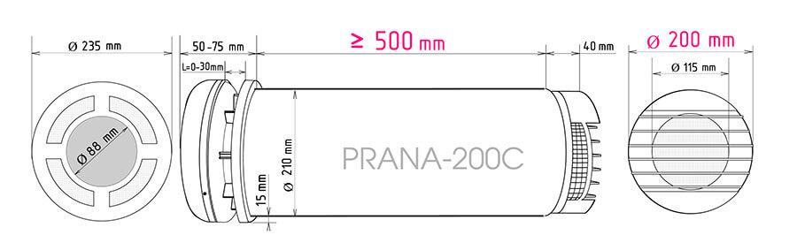 Рекуператор Прана 200С