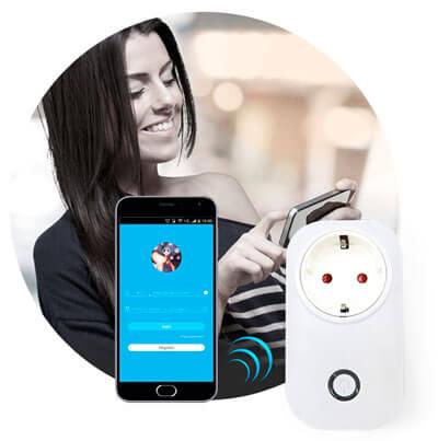 Wi-Fi розетка для умного дома Sonoff